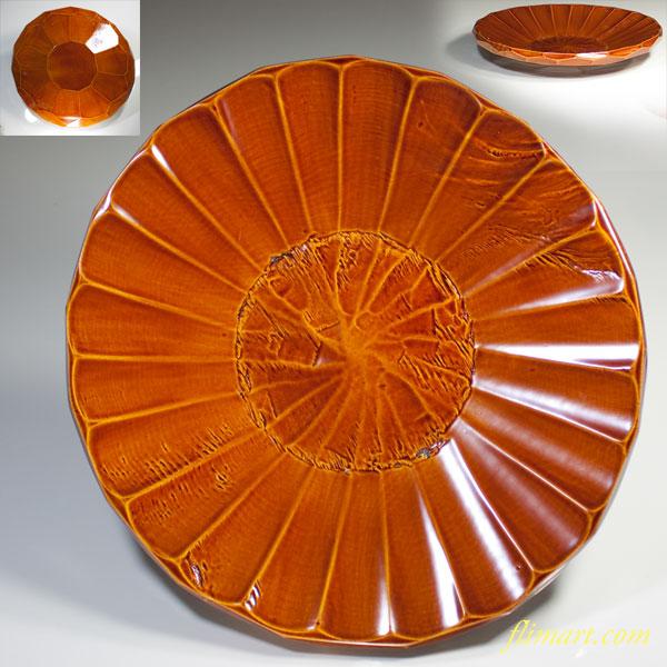 春慶塗丸盆W2289