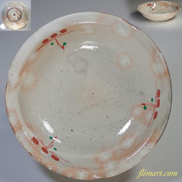赤絵六寸鉢W2299