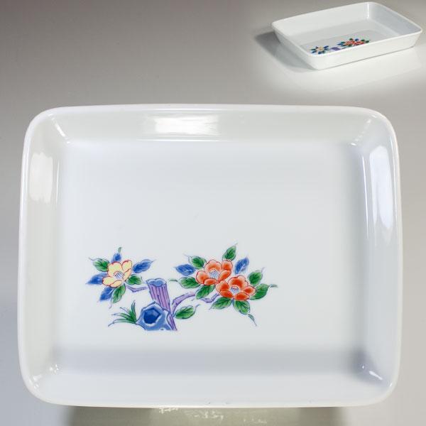 椿七寸角皿
