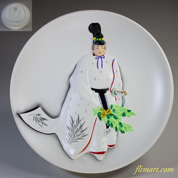 神宮舞楽人長舞額皿飾皿