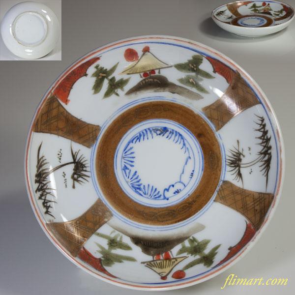 金彩五寸皿W2401