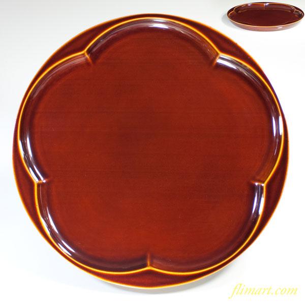 春慶塗梅型八寸丸盆