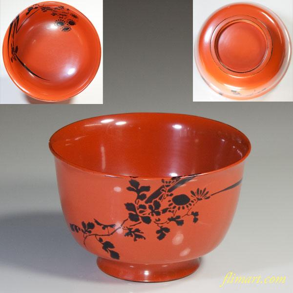 木製漆器朱塗杯洗