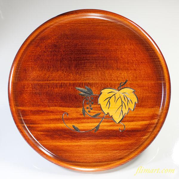 木製丸盆W2448