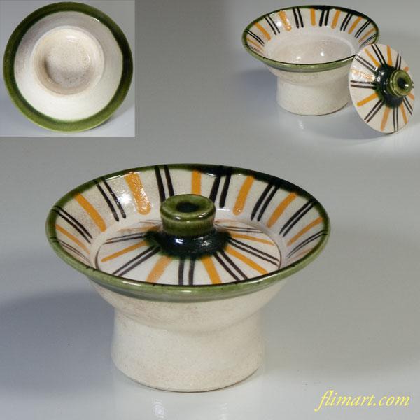 織部蓋付珍味小鉢