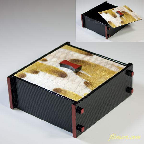 京白川七宝木製漆器小重箱