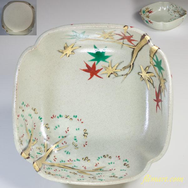 幸兵衛窯雲錦手菓子鉢