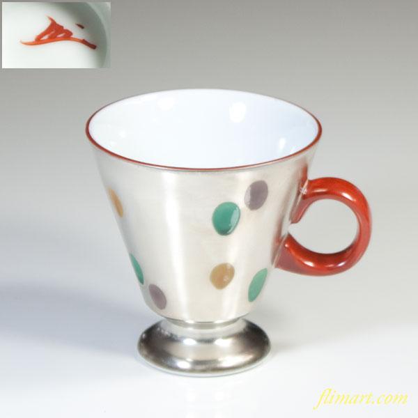 蔵珍窯純銀彩マグカップ