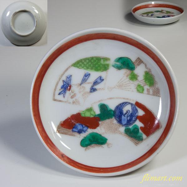 赤絵小皿W2498