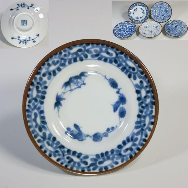 第一陶器ぶるー浪漫染付小皿五枚セット