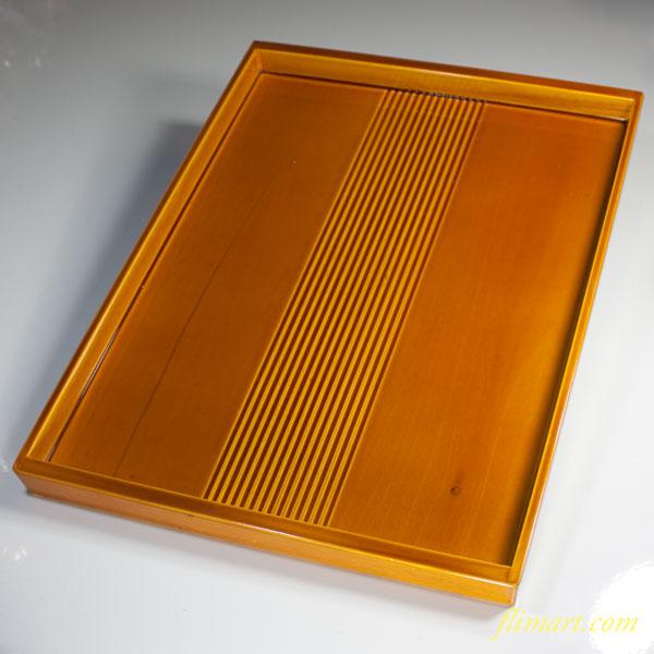 春慶塗角盆W2655