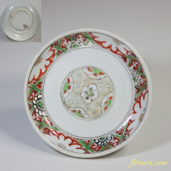 赤絵豆皿W2681