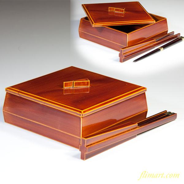 春慶塗蓋付箸重箱W2699