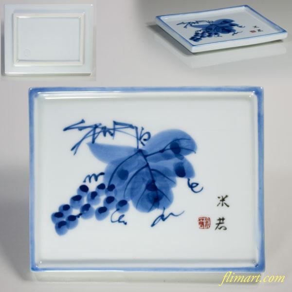 有田焼米若葡萄柄銘々皿