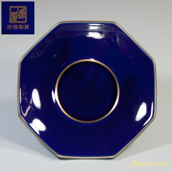 前畑陶器庫山窯瑠璃八角茶托