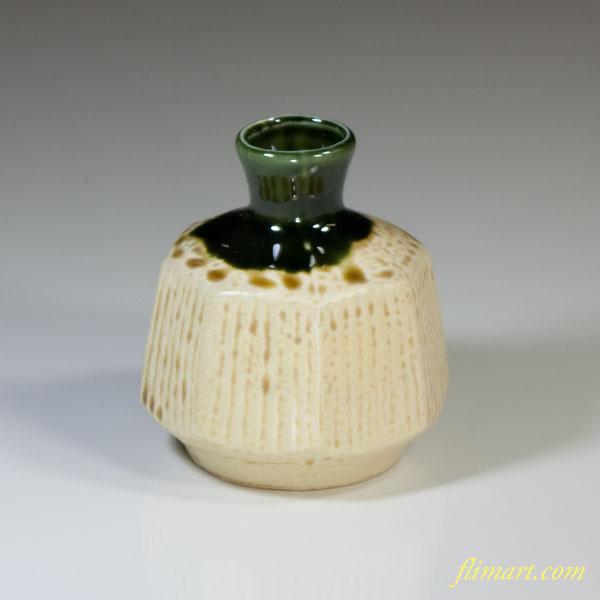 弘山窯織部小壷