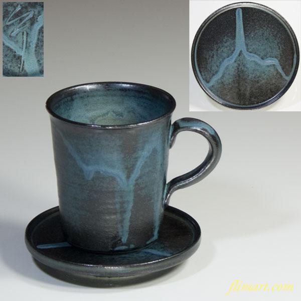 飛騨小糸窯珈琲碗皿