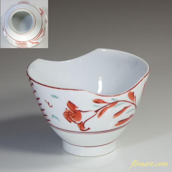 赤絵鉢W2942