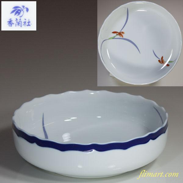 香蘭社オーキッドレース六寸鉢