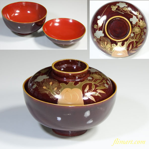 木製漆器吸物椀W2804