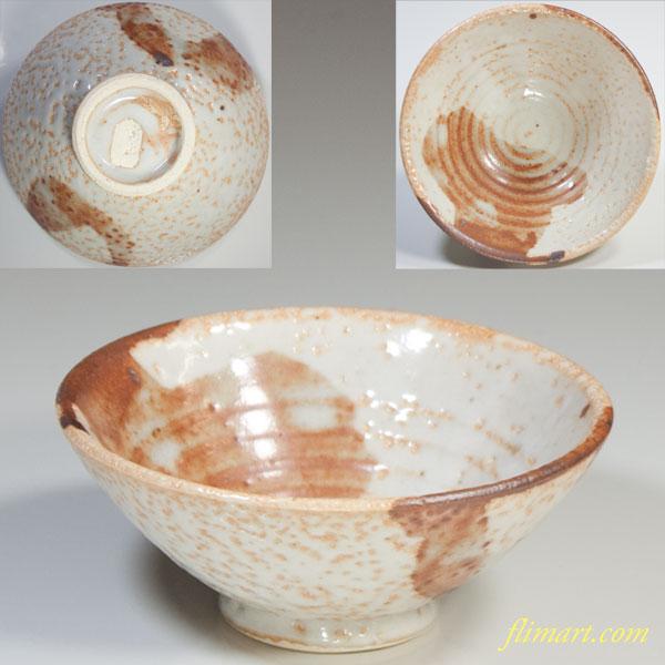 富山窯志野飯茶碗