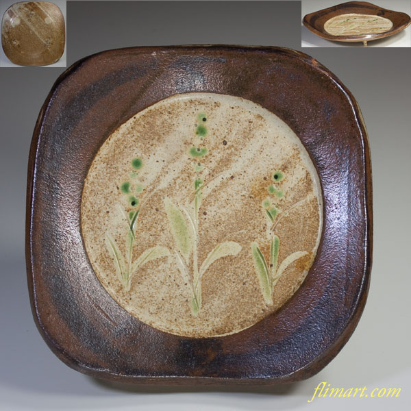 三足角皿W2915