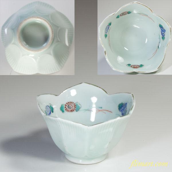 青白磁桔梗小鉢