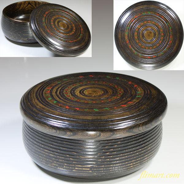 木製蓋付菓子器