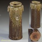 信楽耳付花瓶W2950