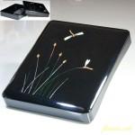 高岡漆器螺鈿硯箱蜻蛉