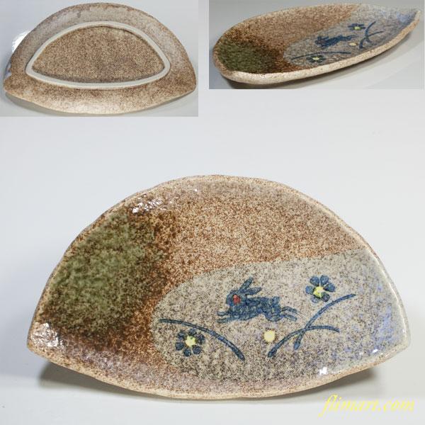 翠泉兎半月皿