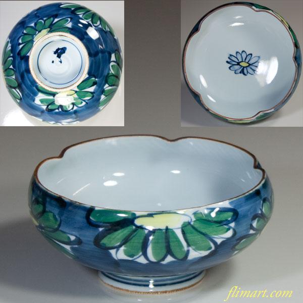 梅型菊紋小鉢