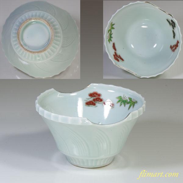 青白磁小鉢W3048