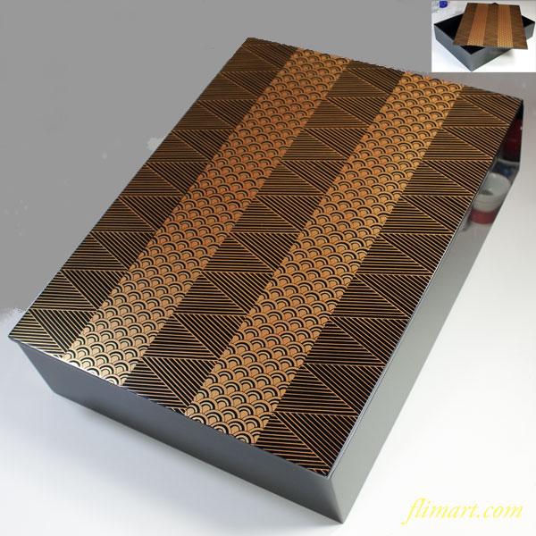 木製漆器青海波文庫