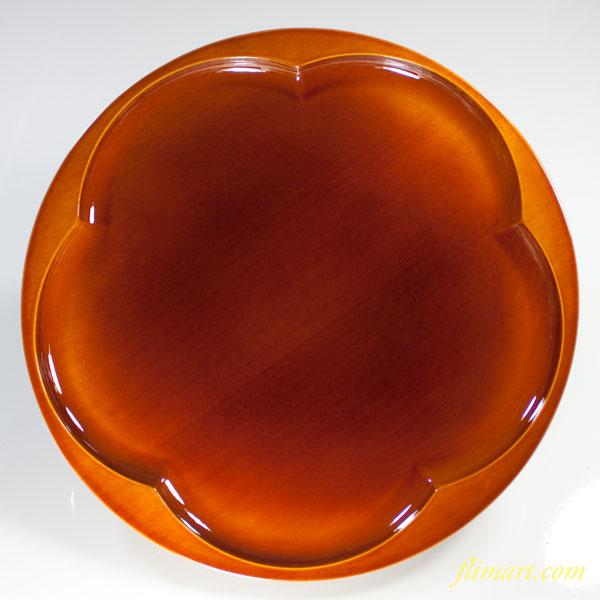 春慶梅型八寸丸盆W5168