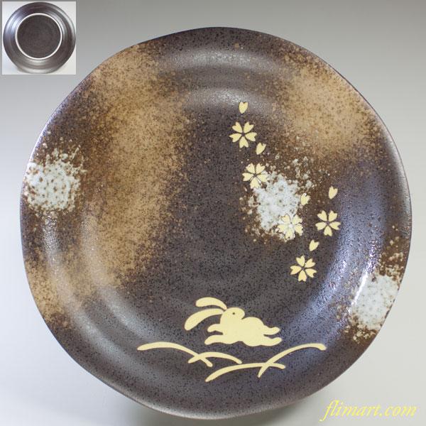 兎柄七寸皿
