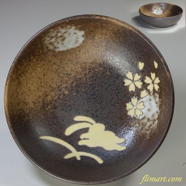 兎柄小鉢W3161