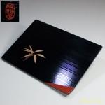 越前河和田塗祖雅堂木製漆器角盛皿五枚セット
