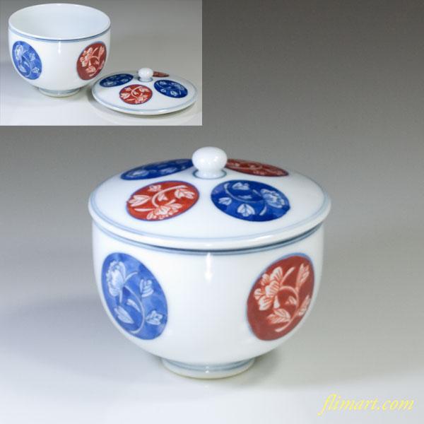 蓋付湯呑茶碗W3143