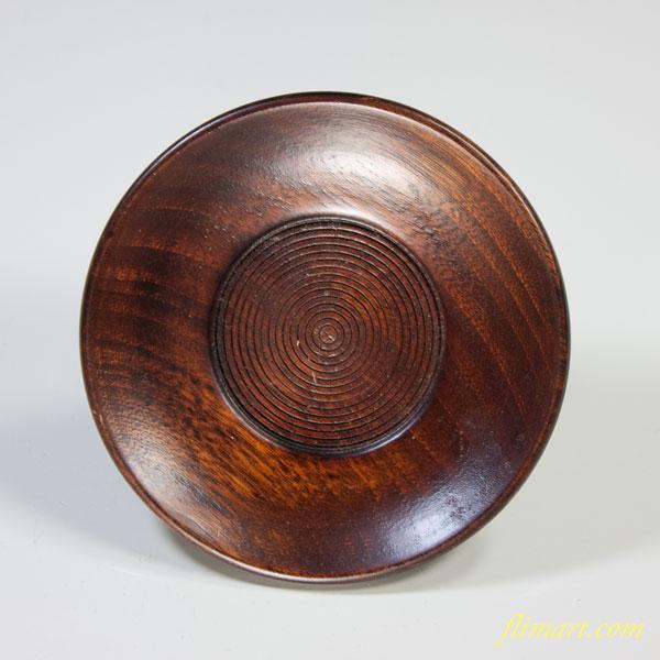 木製茶托五枚セットW3159