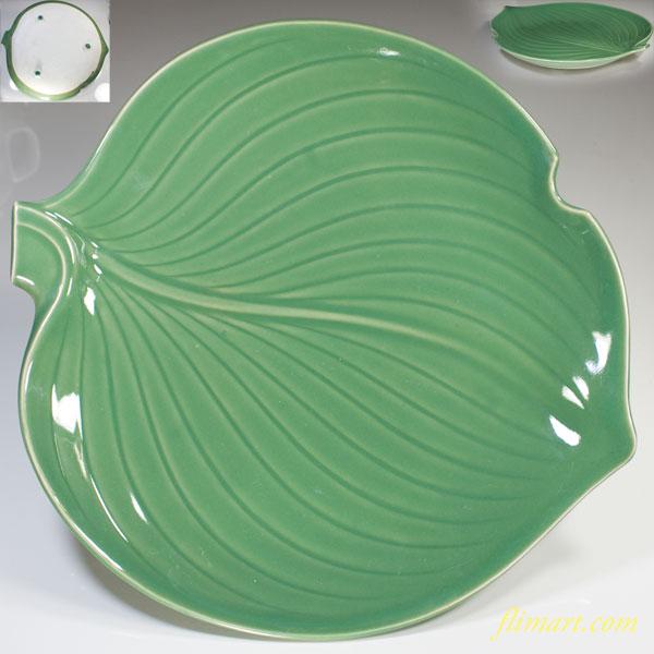 葉型三つ足大皿