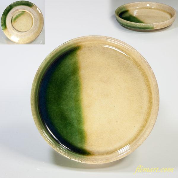 黄瀬戸豆皿小皿W3165