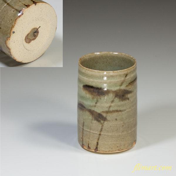 陶元窯灰釉湯呑