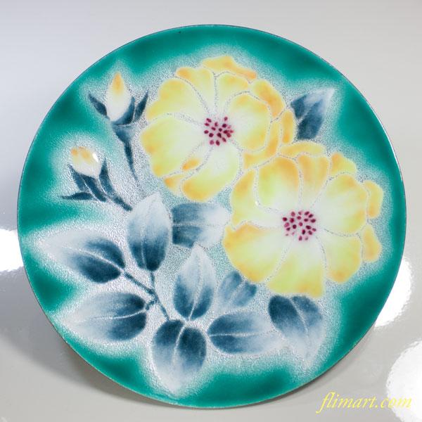 花柄七宝八寸飾皿