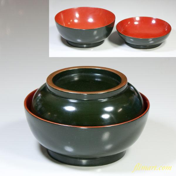 木製青漆菓子椀W3231