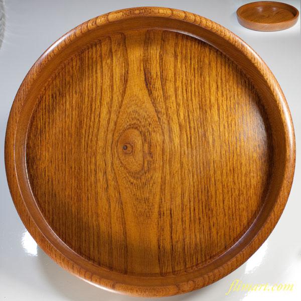 木製十寸丸盆W3282
