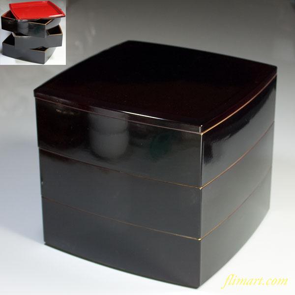 山中漆器三段重箱W3476