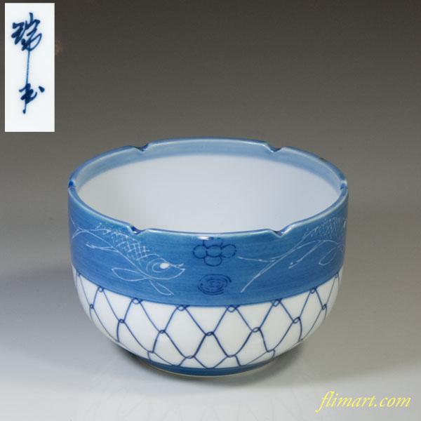 網目魚紋小鉢