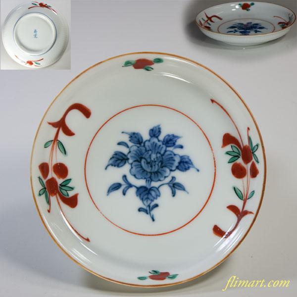 赤絵小皿W3353