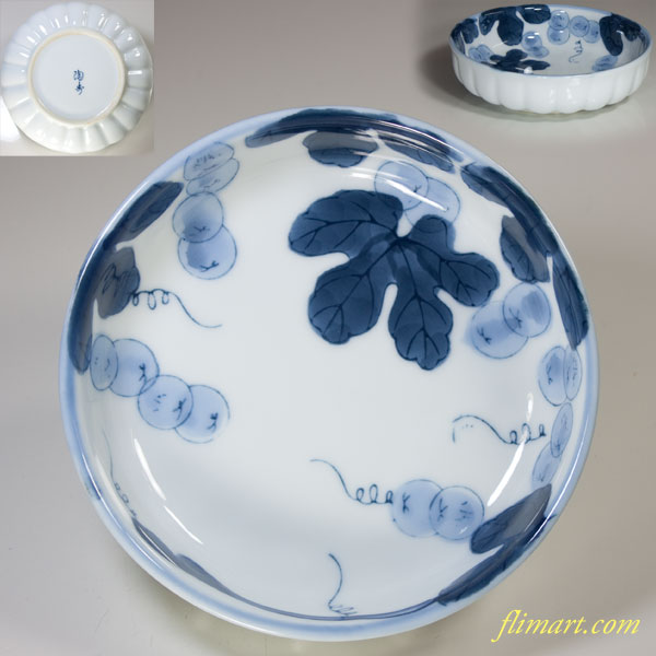 葡萄柄小鉢W3385